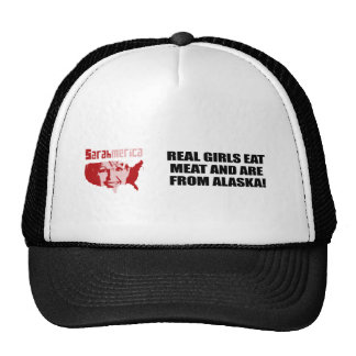 REAL GIRLS EAT MEAT AND ARE FROM ALASKA TRUCKER HAT