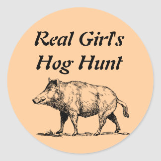 Real Girl's Hog Hunt Stickers