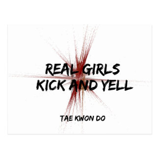 Real Girls Kick and Yell Postcard