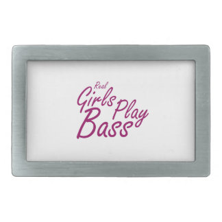 Real Girls Play Bass 2 purple Belt Buckle