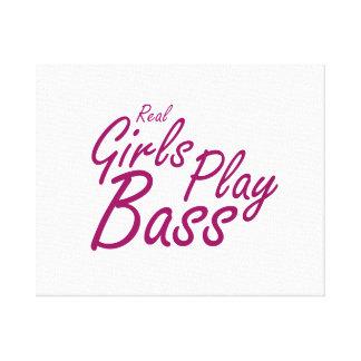 Real Girls Play Bass 2 purple Canvas Print