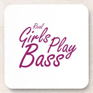 Real Girls Play Bass 2 purple Beverage Coaster