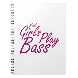 Real Girls Play Bass 2 purple Notebook