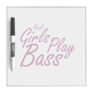 Real Girls Play Bass 2 purple.png Dry Erase Board