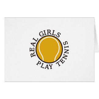 Real Girls Play Tennis Card
