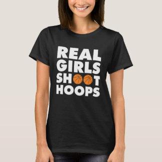 Real Girls Shoot Hoops Basketball T-Shirt
