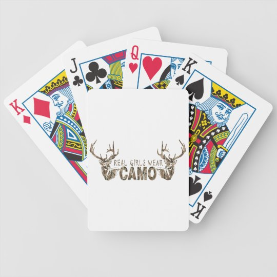 REAL GIRLS WEAR CAMO BICYCLE PLAYING CARDS