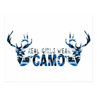 REAL GIRLS WEAR CAMO POSTCARD