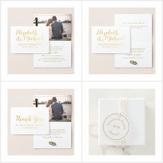Real Gold Foil Wedding Collection