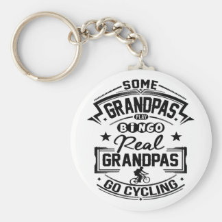 Real Grandpas Go cycling Keychain