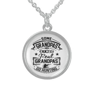 Real Grandpas Go Hunting Sterling Silver Necklace