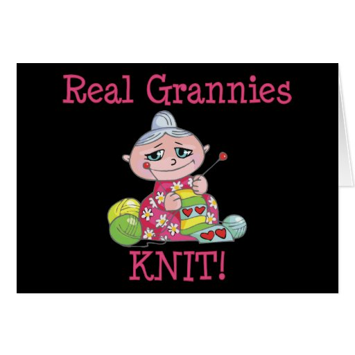 Real Grannies KNIT! Cards