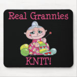 Real Grannies KNIT! Mouse Pad