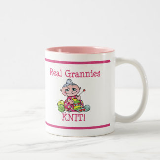 Real Grannies KNIT! Coffee Mugs