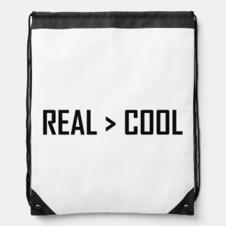 Real Greater Than Cool Drawstring Backpack
