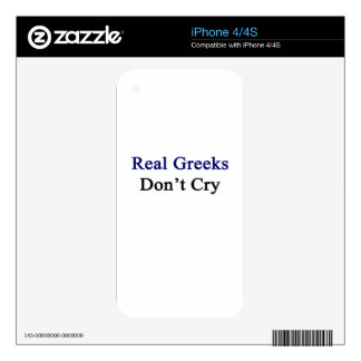 Real Greeks Don't Cry iPhone 4 Skin