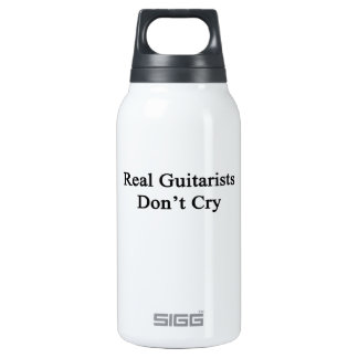 Real Guitarists Don't Cry 10 Oz Insulated SIGG Thermos Water Bottle
