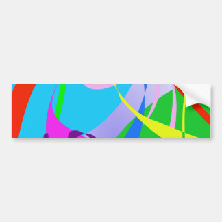 Real Happiness Abstract Design Bumper Sticker