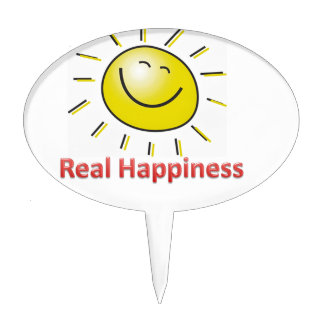 real happiness cake topper