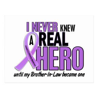 REAL HERO 2 Brother-In-Law HODGKIN'S DISEASE Tees Postcard