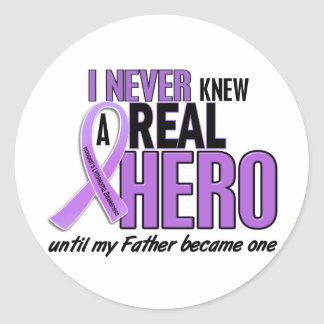 REAL HERO 2 Father HODGKIN'S DISEASE T-Shirts Classic Round Sticker