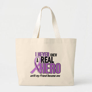 REAL HERO 2 Friend HODGKIN'S DISEASE T-Shirts Large Tote Bag