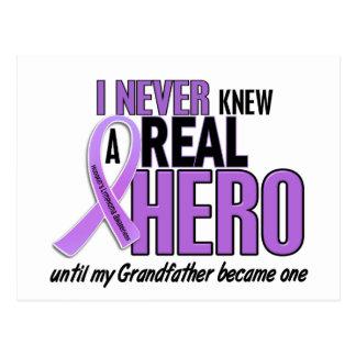 REAL HERO 2 Grandfather HODGKIN'S DISEASE T-Shirts Postcard