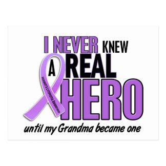 REAL HERO 2 Grandma HODGKIN'S DISEASE T-Shirts Postcard
