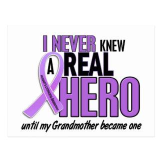 REAL HERO 2 Grandmother HODGKIN'S DISEASE T-Shirts Postcard
