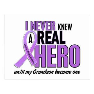 REAL HERO 2 Grandson HODGKIN'S DISEASE T-Shirts Postcard