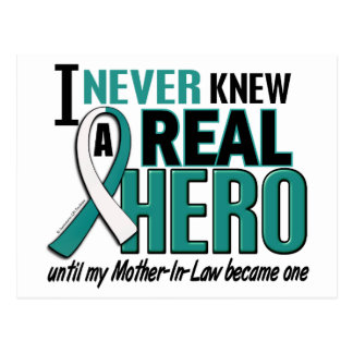 Real Hero 2 Mother-In-Law Cervical Cancer Postcard