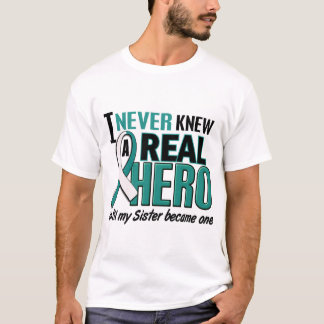 Real Hero 2 Sister Cervical Cancer T-Shirt