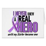 REAL HERO 2 Sister HODGKIN'S DISEASE T-Shirts Greeting Cards