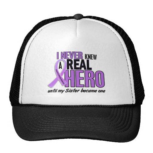 REAL HERO 2 Sister HODGKIN'S DISEASE T-Shirts Mesh Hat