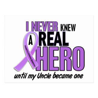 REAL HERO 2 Uncle HODGKIN'S DISEASE T-Shirts Postcard