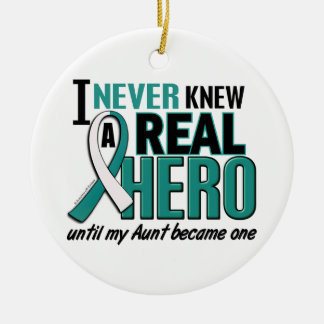 Real Hero Aunt Cervical Cancer Christmas Ornaments