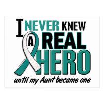 Real Hero Aunt Cervical Cancer Postcard