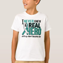 Real Hero Aunt Cervical Cancer T-Shirt