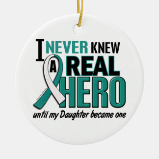 Real Hero Daughter Cervical Cancer Christmas Tree Ornament
