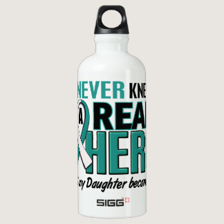 Real Hero Daughter Cervical Cancer Water Bottle