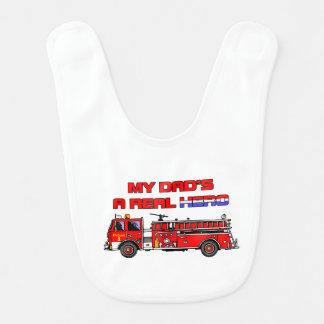 Real Hero Firefighter Baby Bib