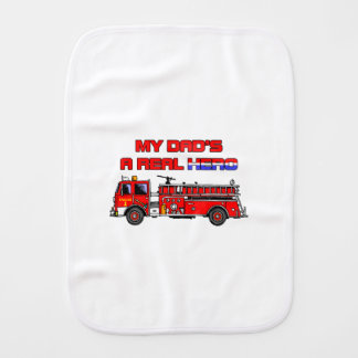 Real Hero Firefighter Baby Burp Cloth