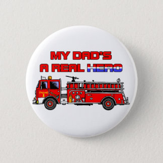 Real Hero Firefighter Button