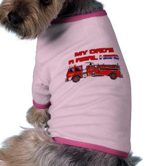 Real Hero Firefighter Pet T Shirt