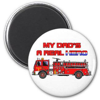 Real Hero Firefighter Refrigerator Magnet