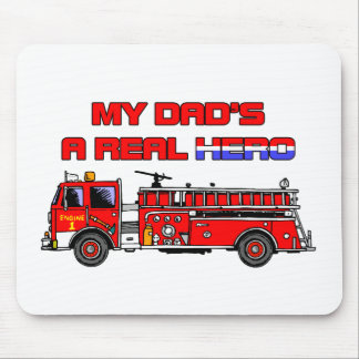 Real Hero Firefighter Mouse Pad