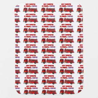 Real Hero Firefighter Pattern Stroller Blanket