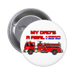 Real Hero Firefighter Pinback Button