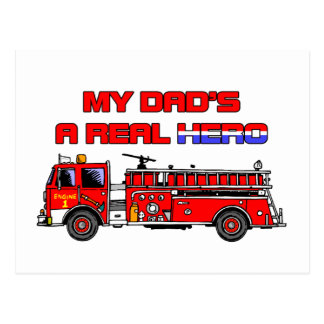Real Hero Firefighter Postcard