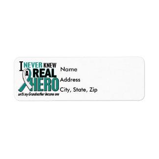 Real Hero Grandmother Cervical Cancer Label